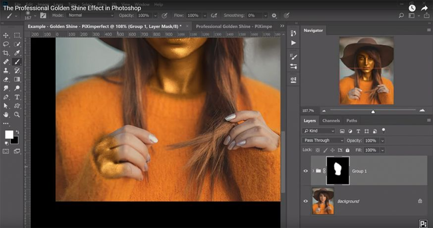 professioneel gouden glans effect photoshop