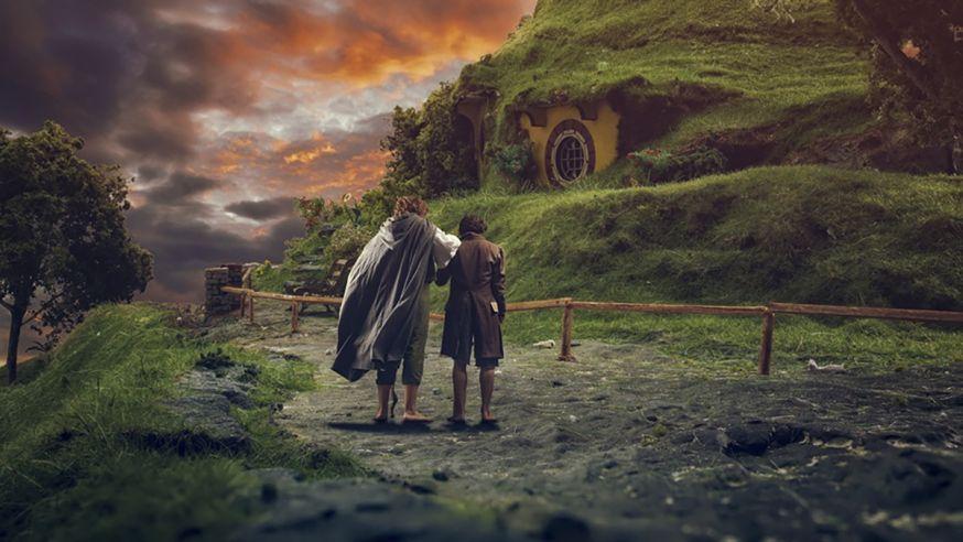 Fotograaf maakt Lord of the Rings foto's na op een tafelbla