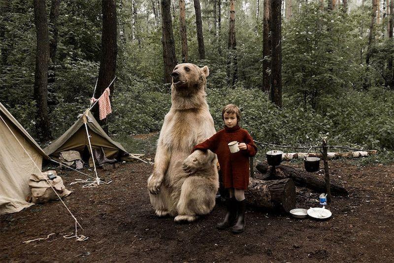 Op de foto met een echte beer