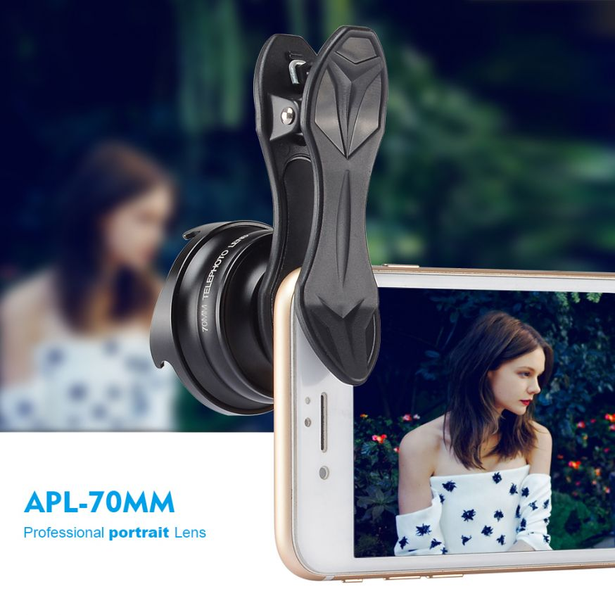 portretlens portret objectief mobiele telefoon apexel apl-70mm