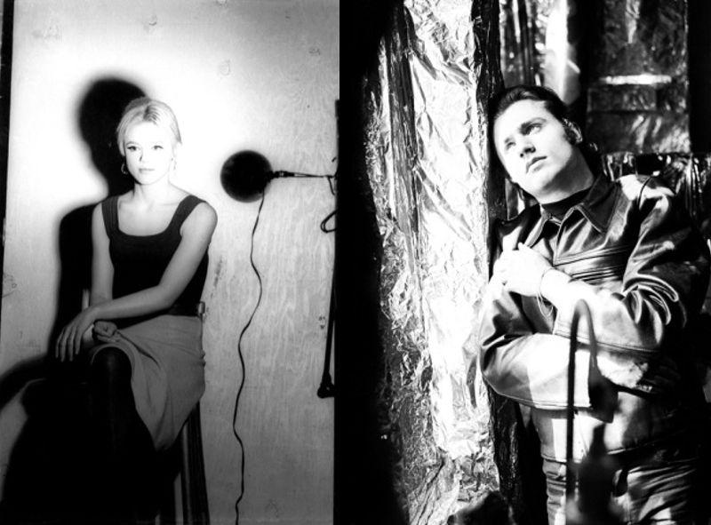Edie Sedgwick en Gerard Melanga door Billy Name