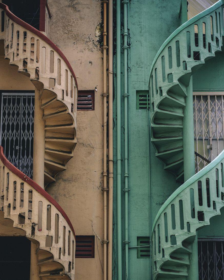 verticale symmetrie in fotografie