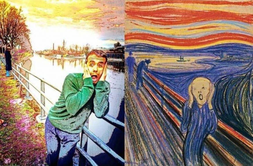 de schreeuw, going mental, Munch