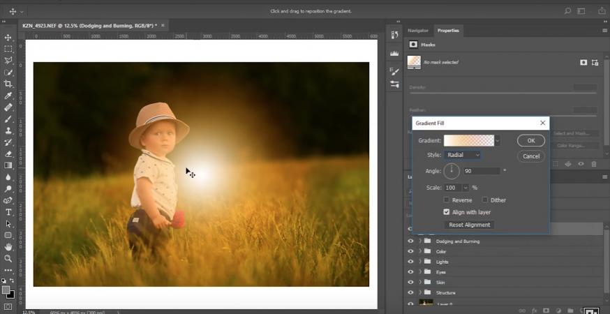 Sunflare toevoegen in Photoshop
