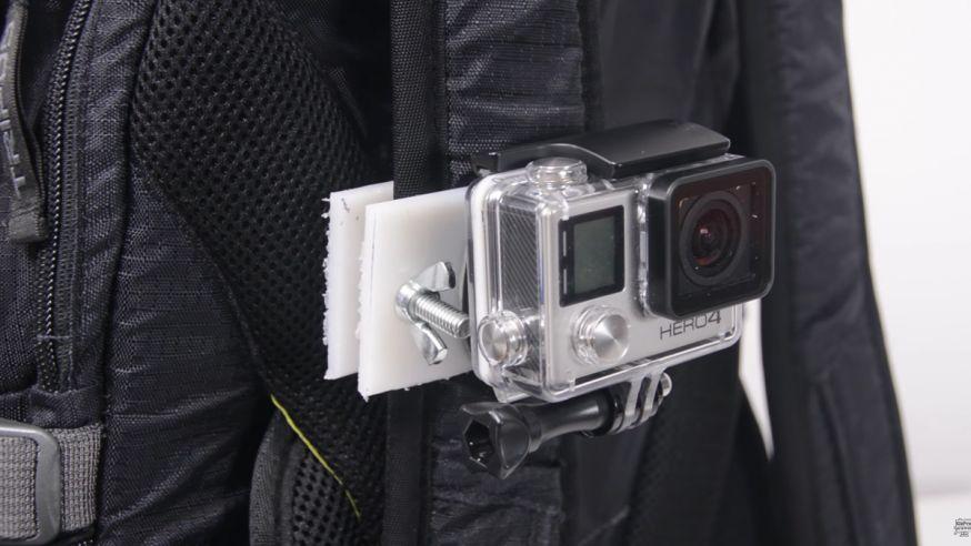 DIY: je eigen GoPro rugzak strap mount maken