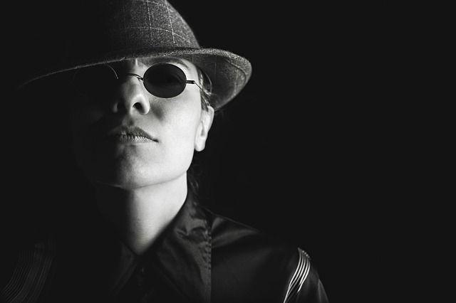 portret, portretfotografie, film noir, zwart-wit, gangster