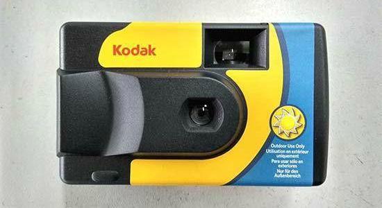 ideaal voor op vakantie, de kodak iso 800 wegwerpcamera