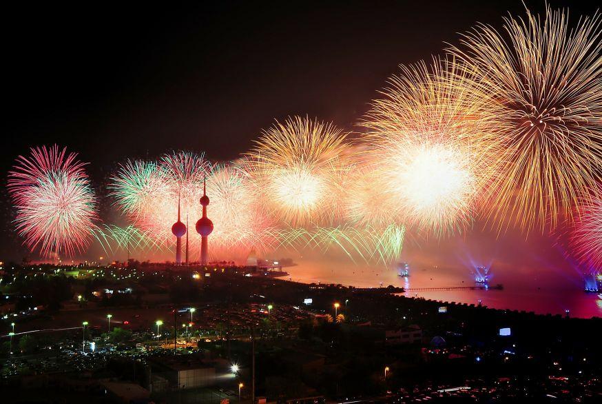 Vuurwerk in Koeweit