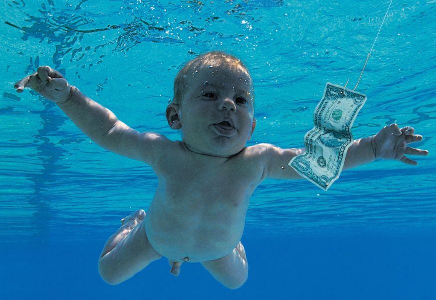 Baby op album Nirvana poseert opnieuw