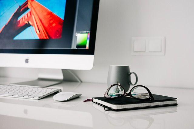 computer, nabewerking, Photoshop, laptop