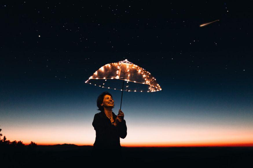Paraplu in de nacht