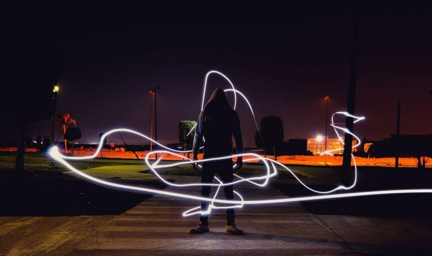 bewegingsonscherpte lightpainting