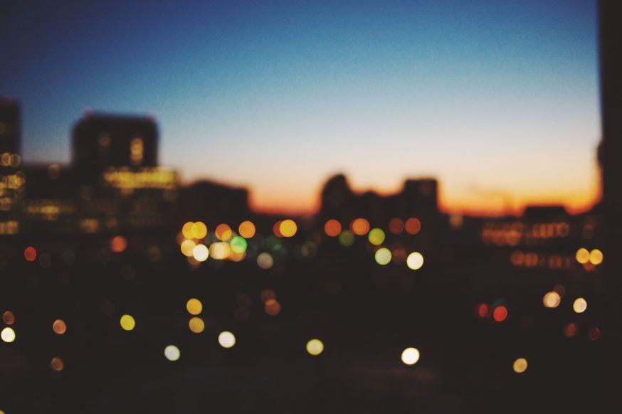 Nachtfoto onscherpte