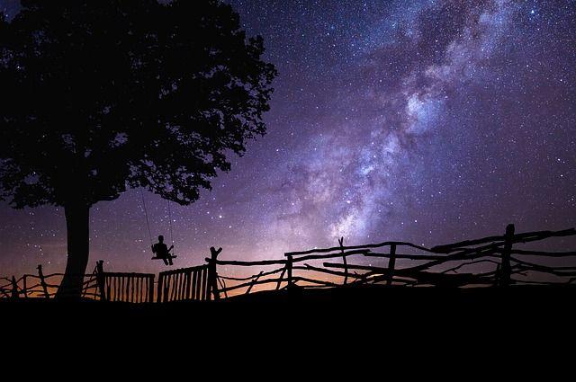 Een nachtelijk landschap, landschap, nacht, sterrenfotografie, astrofotografie