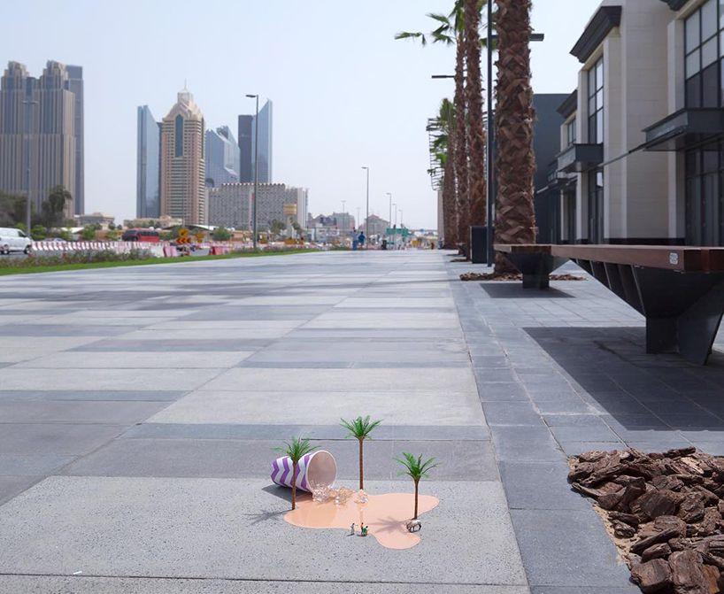 Miniatuur scènes in Dubai