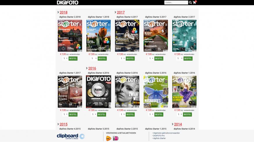 digifoto starter webshop magazines nabestellen