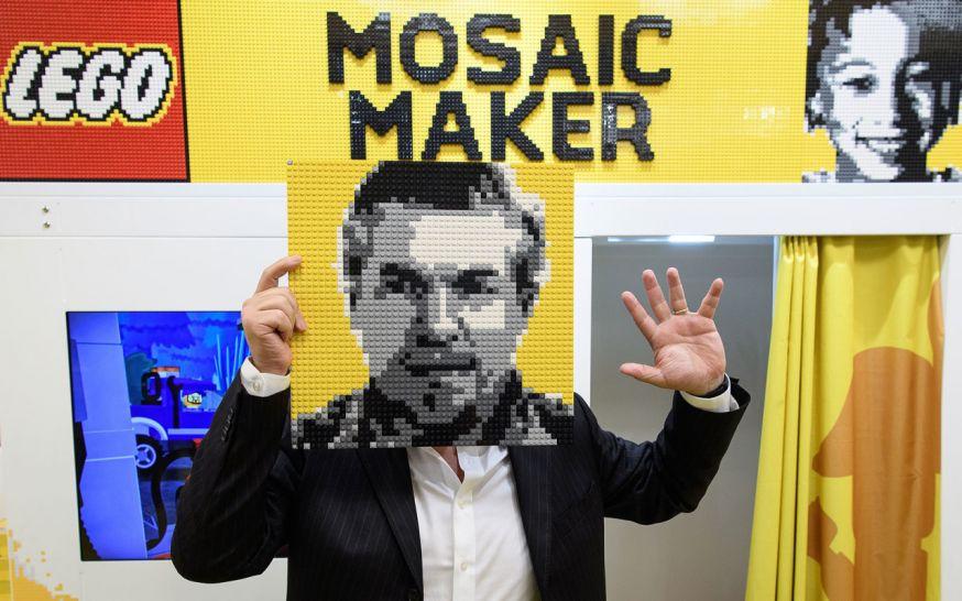 Mosaic Maker maakt portretten tot LEGO kit